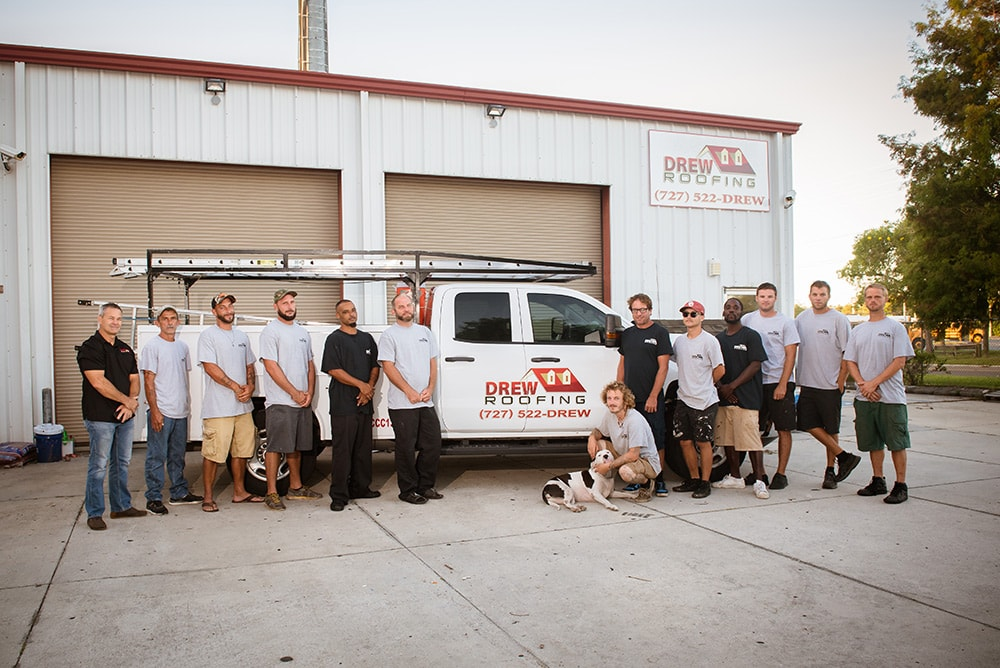 Drew Roofing team
